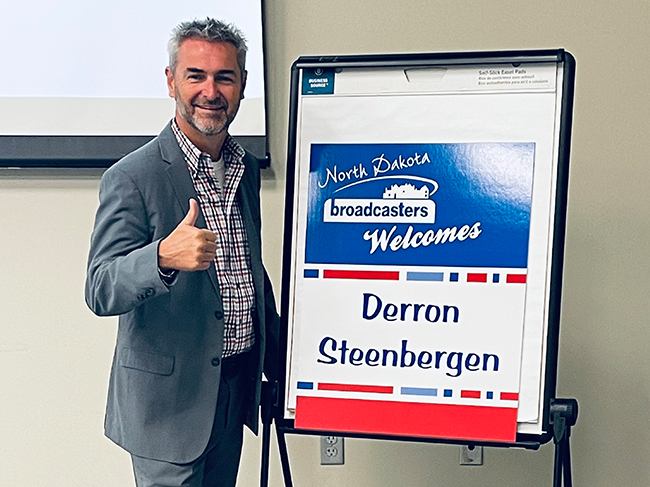 Derron Steenberger comes to ND to inspire and motivate!